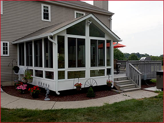 Sunroom and Deck with Stairs